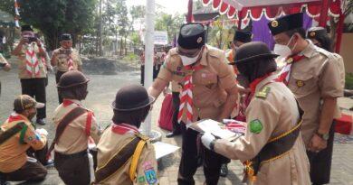 Apel Hari Pramuka Ke-60 Kwarcab Kota Malang dengan Prokes Ketat